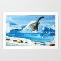 Argentinosaurus on the Rocks Art Print
