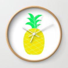 Pineapple Pop Art Wall Clock
