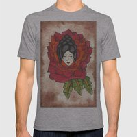 Lady in Rose Mens Fitted Tee Athletic Grey SMALL