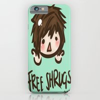 iPhone & iPod Case featuring 'Free Shrugs' by I3uu
