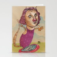 KITTY'S WATER WINGS Stationery Cards
