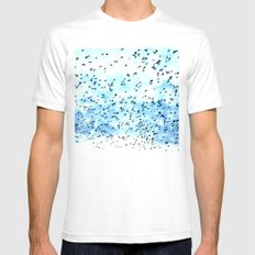 swarm. Mens Fitted Tee White SMALL