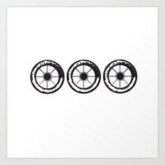 wheels 3x Art Print