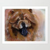 Chow Dog Portrait Art Print