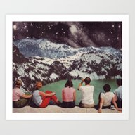 Art Print featuring GLACIAL by Beth Hoeckel Collage…