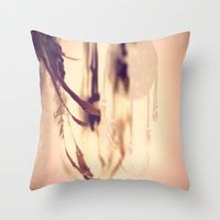Dreamcatcher Feathers Throw Pillow