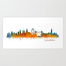 London City Skyline HQ V… Art Print
