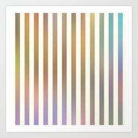Striped Pattern In Paste… Art Print