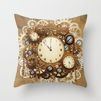 Steampunk Vintage Style … Throw Pillow