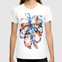 butterfly Womens Fitted Tee White SMALL