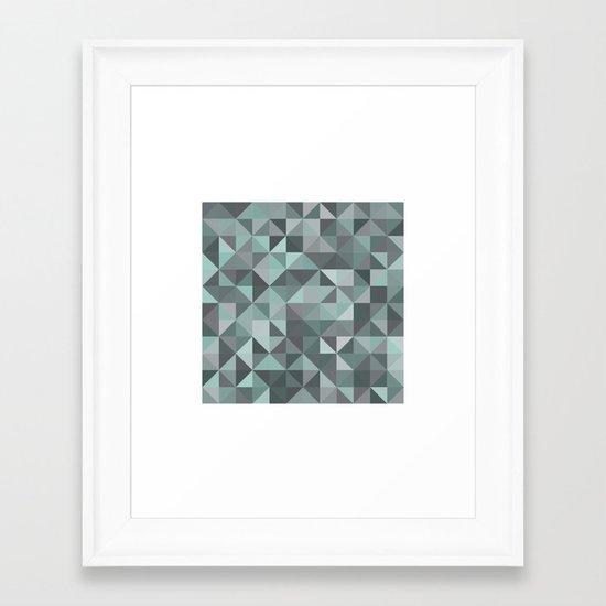 #105 Diamond dust – Geometry Daily Framed Art Print