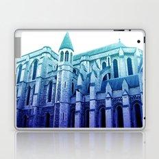 london church, in blue Laptop & iPad Skin
