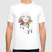 queen margherita Mens Fitted Tee White SMALL