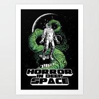 Horror In Deep Space Art Print