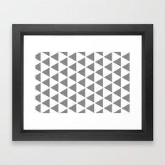 Sleyer Grey on White Pattern Framed Art Print