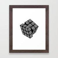 qr cube Framed Art Print