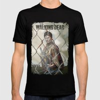 The Walking Dead Mens Fitted Tee Black SMALL