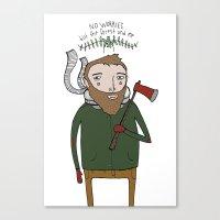 No Worries Woodsman Canvas Print