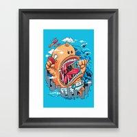 Momma's Boy Framed Art Print