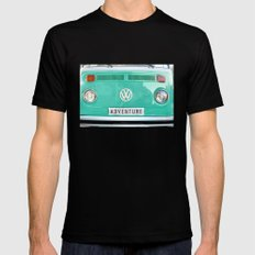 Adventure wolkswagen. Summer dreams. Green Mens Fitted Tee Black SMALL