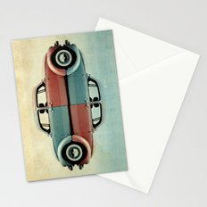checkered bug - VW beetle Stationery Cards