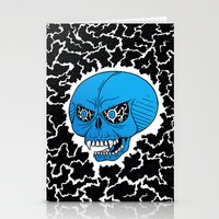 Lightning Skull Stationery Cards