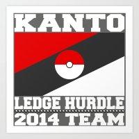 Kanto Ledge Hurdling Tea… Art Print
