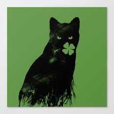 St Paddy's Cat Canvas Print