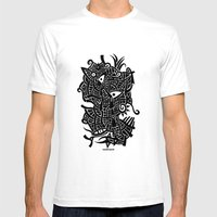 - Androgynous Fish - Mens Fitted Tee White SMALL