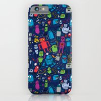 iPhone & iPod Case featuring Robots Forever! by Chris Piascik