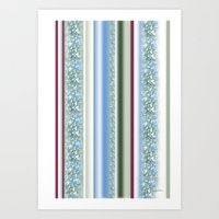 Canopy Stripe Art Print