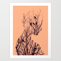birds Art Prints featuring Birds by Andreas Lie