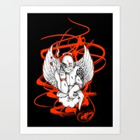 Angel Gangsta Art Print