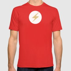 The Flash Vector Logo Mens Fitted Tee Red SMALL