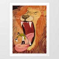Lion Tamer Blues Art Print
