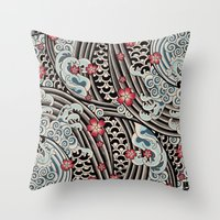 Waves Of Tradition Throw Pillow