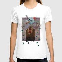 snow T-shirts featuring Snow by gunberk
