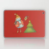 Friends keep warm - red Laptop & iPad Skin