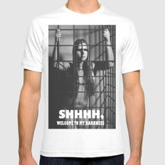 Photograph Nude in a Cage Mens Fitted Tee White SMALL