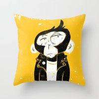 Punk Monkey Throw Pillow