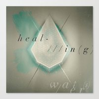 Canvas Print featuring HEAL-IN(g) WATER(s) by Piccolo Takes All