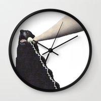 PHONE DOG Wall Clock