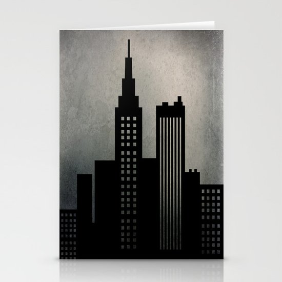 City Skyline  Stationery Card