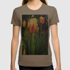 Spring Tulips in Bloom Womens Fitted Tee Tri-Coffee SMALL