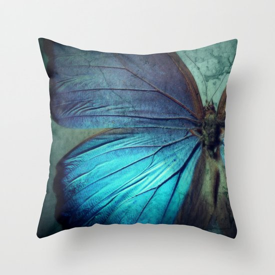 Throw Pillows With Butterfly : Butterfly Throw Pillow by KunstFabrik_StaticMovement Manu Jobst Society6