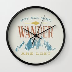 Not All Who Wander Are L… Wall Clock