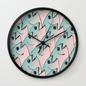 Fish Pattern #1 Wall Clock