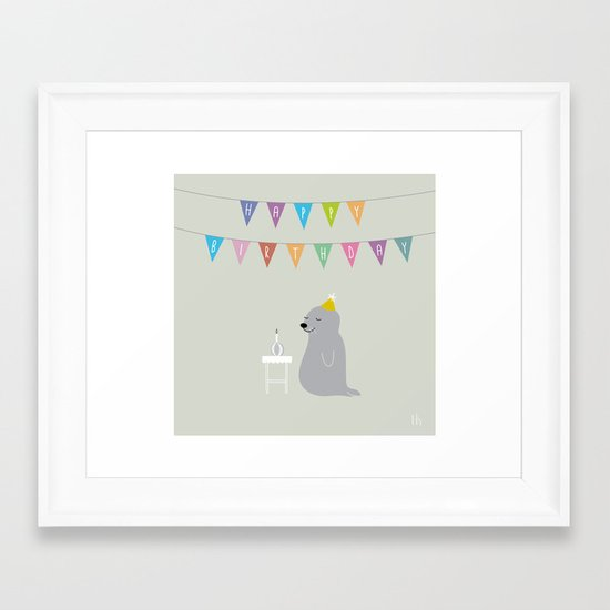 The Happy Birthday Framed Art Print