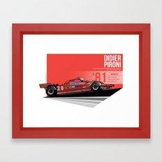 Didier Pironi -  1981 Monaco Framed Art Print