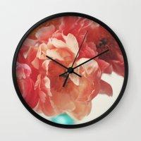 Paeonia #5 Wall Clock